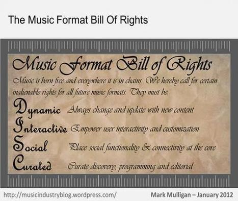 The Music Format Bill of Rights | Social Music Revolution | Scoop.it