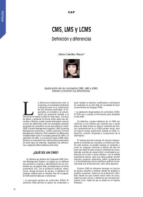 CMS, LMS y LCMS. Definición y diferencias. | El Aula Virtual | Scoop.it