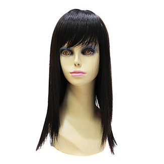 High Quality Capless Synthetic Janpanese Kanekalon Long Black Straight Hair Wig – WigSuperDeal.com | Party Wigs | Scoop.it