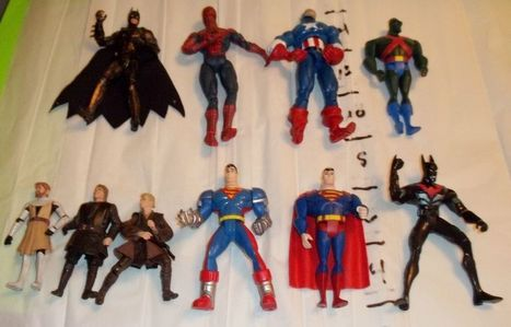 Lot of 10 Action Figures ~Spiderman, Batman, Spiderman and more FREESHIPPING | Action Figures Toy Gifts For Christmas | Scoop.it