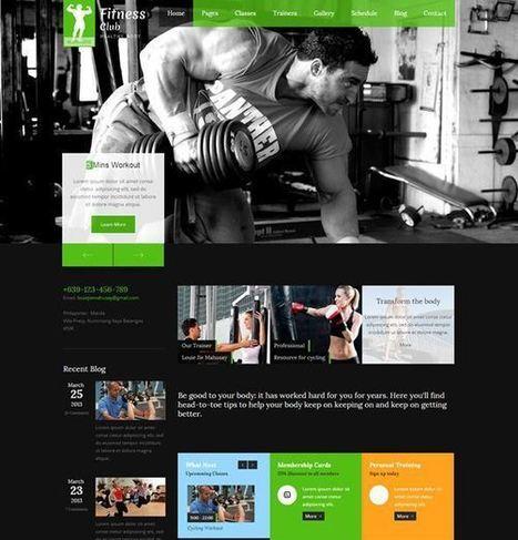 22 html fitness center and gym website templates | Designmain.com - Design, Inspiration & Freebies | Scoop.it