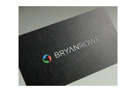 Full color printing Linen Business Cards on Linen Finish Cardstock. | Spot UV Business Cards Canada | Scoop.it