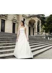 A Line Strapless Chapel Train Organza Ivory Wedding Dress H1ly0035 for $923 | Landybridal 2014 wedding dress | Scoop.it