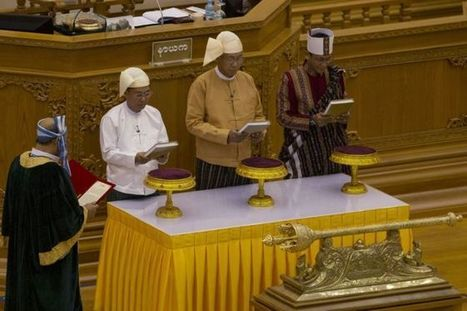 Myanmar swears in first elected civilian president - BBC News | My Mosaic | Scoop.it