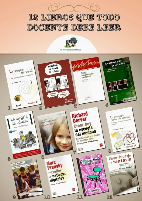 12 LIBROS QUE TODO DOCENTE DEBE LEER | <<TECNOLOGÍAS DE LA INFORMACIÓN Y LA COMUNICACIÓN ( TIC) >> | Scoop.it