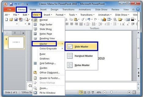 Where is Slide Master in PowerPoint 2007, 2010 and 2013 | Digital Presentations in Education | Scoop.it