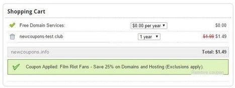 Domain.Com promo code for the .CLUB domain just $1.49 | THE BEST COUPON CODES | Scoop.it