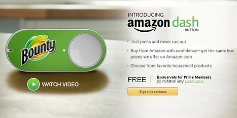 Amazon lance un bouton connecté pour commander en un clic | Colis Privé | Scoop.it
