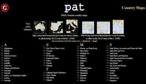 PAT, mapas de todos los países del mundo de dominio público   Recull diari   Scoop.it