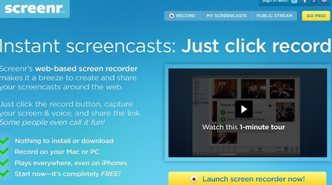 Screenr | Instant screencasts: Just click record | E-Learning Suggestions, Ideas, and Tips | Scoop.it