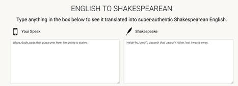 Shakespeare Translator | Technology and Education Resources | Scoop.it
