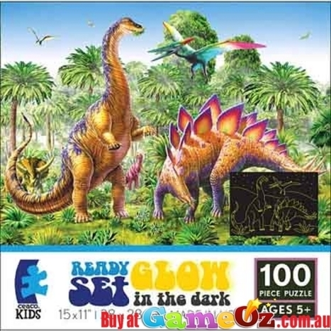 Dinosaur Ready set Glow Ceaco Jigsaw Puzzle 100 Piece | Puzzles | Scoop.it