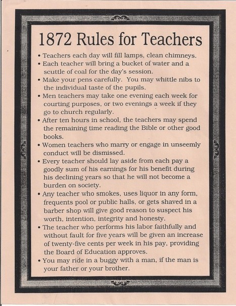 1872 and 1915 Rules for Teachers | Model Railway Ramblings | Banco de Aulas | Scoop.it