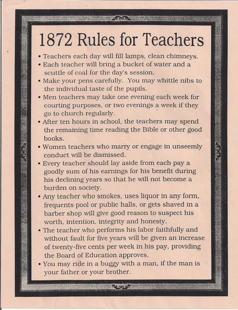 1872 and 1915 Rules for Teachers | Model Railway Ramblings | Banco de Aulas | Scoop.it