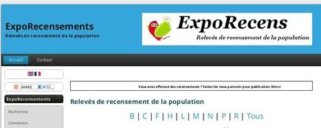 Présentation du projet ExpoRecensements - Carnet Web de Généalogie | Nos Racines | Scoop.it