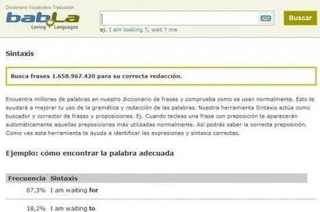 Bab.la presenta Sintaxis, para escribir correctamente textos en Inglés   Herramientas digitales   Scoop.it