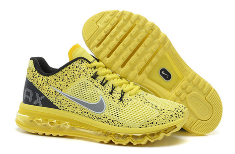 Nike Air Max 2013 Mens Black Yellow Paint UK Discount   SHARES   Scoop.it
