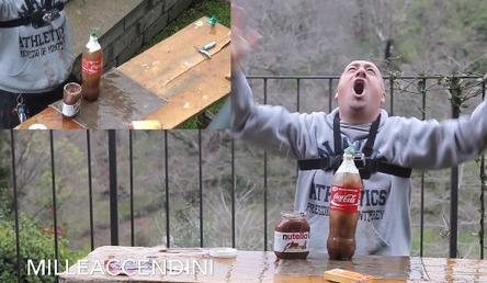 Ce malade mental tente le combo de la mort : Coca + Mentos + Nutella + Préservatif ! | Trollface , meme et humour 2.0 | Scoop.it