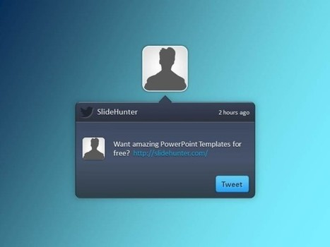 Free Twitter PowerPoint Template | powerpoint | Scoop.it