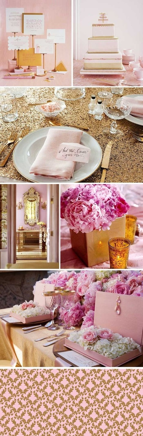 Pink and Gold inspiration from Bridal bar | San Diego Wedding Blog | Go Wedding | Scoop.it