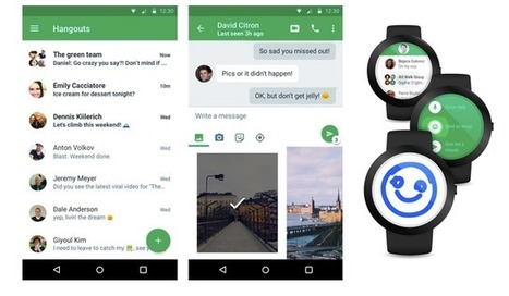 Google Hangouts 4.0 est disponible avec un nouveau look en material design - #Arobasenet.com | Going social | Scoop.it