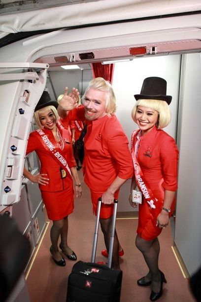 Richard Branson takes to the sky as AirAsia hostie | Cabin Crew | Scoop.it