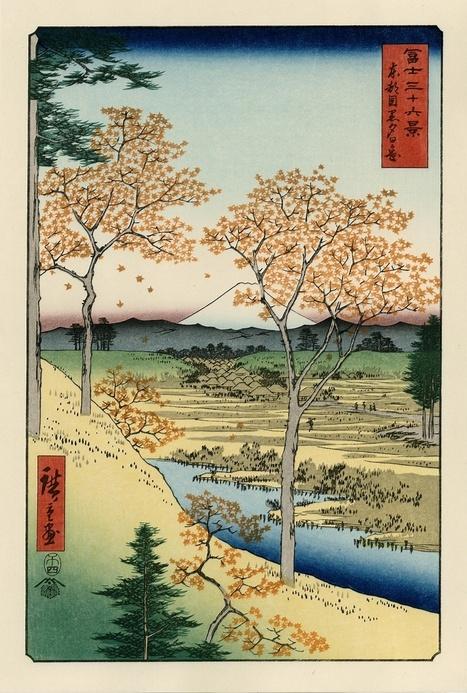 vends estampes Hiroshige : 36 vues du Mont Fuji - paris-vente-veritables-estampes-objets-art-japon.overblog.com | estampes japonaises | Scoop.it