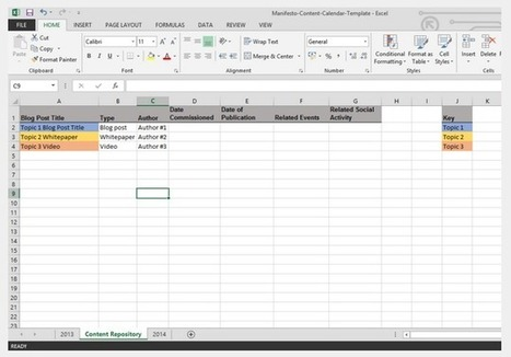 How to Build a Content Calendar (Plus a Free Template) | Customer Enablement & Sales Operations | Scoop.it
