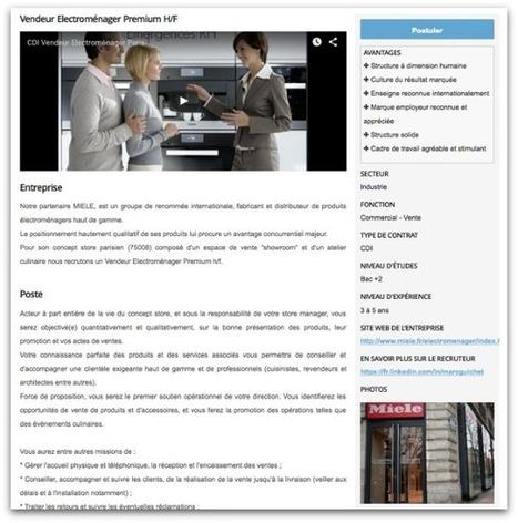 Offre d'emploi | Emergences RH | METHODES DE RECRUTEMENT | Scoop.it