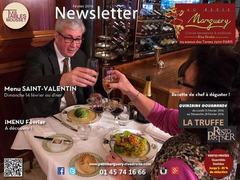 AU PETIT MARGUERY RIVE DROITE,  actualité de février ! | RESTOPARTNER : des restaurants  de qualités à Paris - France | Scoop.it
