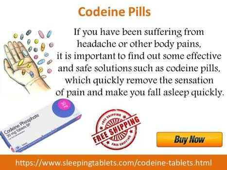 Codeine Tablets for Quicker and Safer Pain Relief | Solution of Sleeping Disorder (Insomnia) | Scoop.it