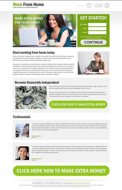 work-from-home-for-extra-money-res-lp-6 | Work from Home responsive landing page design preview. | responsive landing pages | Scoop.it