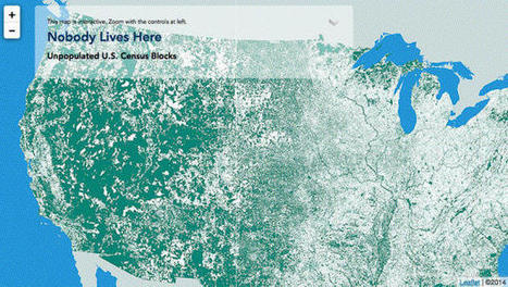 Mapping All The Places In The U.S. With A Population Of Zero | Modern Cartographer | Scoop.it