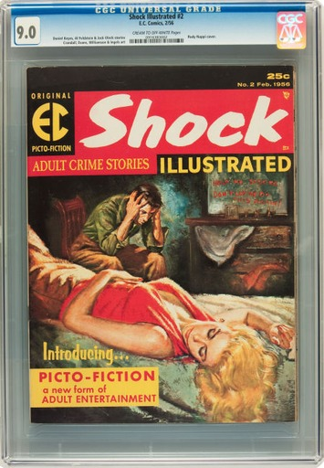 Shock Illustrated #2 (EC, 1956) CGC VF/NM 9.0 | Antiques & Vintage Collectibles | Scoop.it
