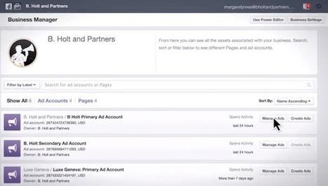 Business Manager : Le projet multi-comptes de Facebook qui va séduire - #Arobasenet | Social Media, Community Management et e-réputation. | Scoop.it