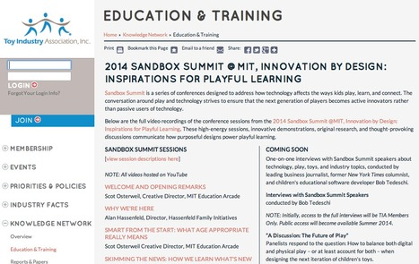 2014 Sandbox Summit  - Inspirations for Playful Learning | New learning | Scoop.it