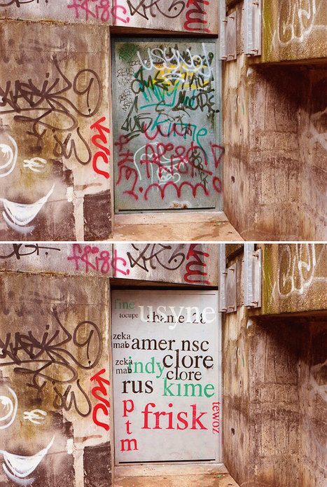 Street Artist with Quirky Sense of Humor Paints Over Graffiti to Make Words More Legible | Le It e Amo ✪ | Scoop.it