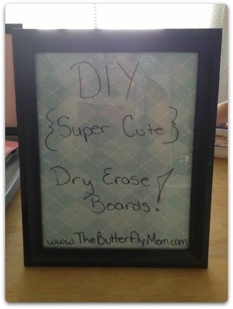 DIY Dry Erase Boards | DIY crafts and more | Scoop.it
