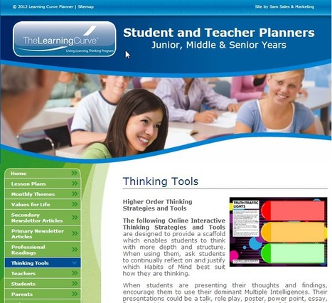 :: Thinking Tools > Teacher & Student Planners :: | Student of Success | Scoop.it