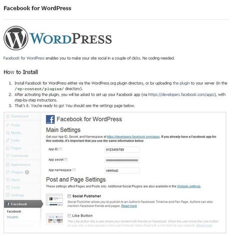[astuce] Comment intégrer Facebook à WordPress ? | Social Media Curation par Mon Habitat Web | Scoop.it