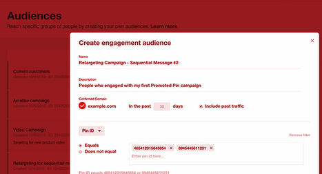 Pinterest Adds Pin Engagement & Website Retargeting | Social Media, SEO, Mobile, Digital Marketing | Scoop.it