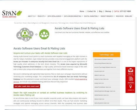 Buy Aorato Software User List from Span Global Services | Span Global Services | Scoop.it