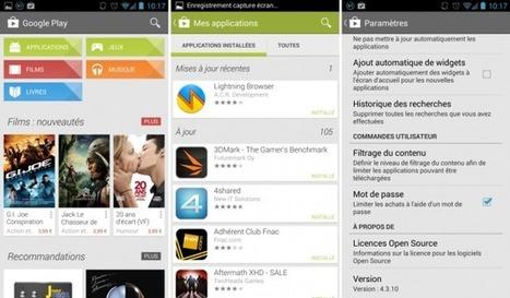 Google Play Store, la nouvelle version 4.3.10 est disponible | Android's World | Scoop.it