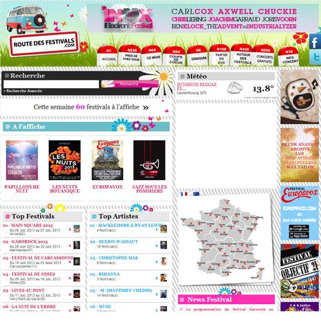 Route Des Festivals : Reservez votre festival partout en Europe | FESTIVALS DE MUSIQUE | Scoop.it