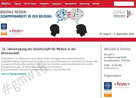 @sandra_schoen : Und am Ende des Sommers: Die GMW in Innsbruck! Kommt Ihr auch? #gmw | Medienbildung | Scoop.it