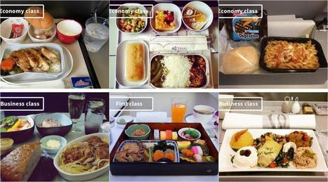 Airplane food: Economy vs. First class meals on 16 airlines | Aviation & Airliners | Scoop.it