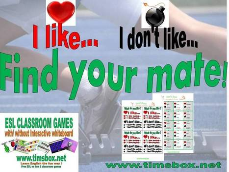 CLASSROOM GAMES - Find your mate ! | Teaching English ESL - Ressources anglais -timsbox | Scoop.it
