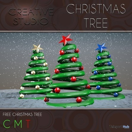 Christmas Tree Gift by CREATIVE STUDIO | Teleport Hub - Second Life Freebies | Second Life Freebies | Scoop.it