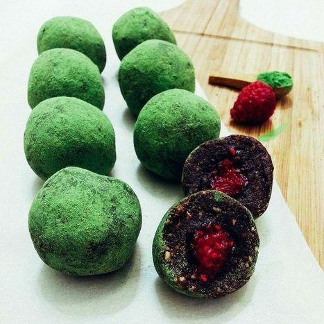 Vegan Recipe: Matcha Raspberry Energy Balls | My Vegan recipes | Scoop.it