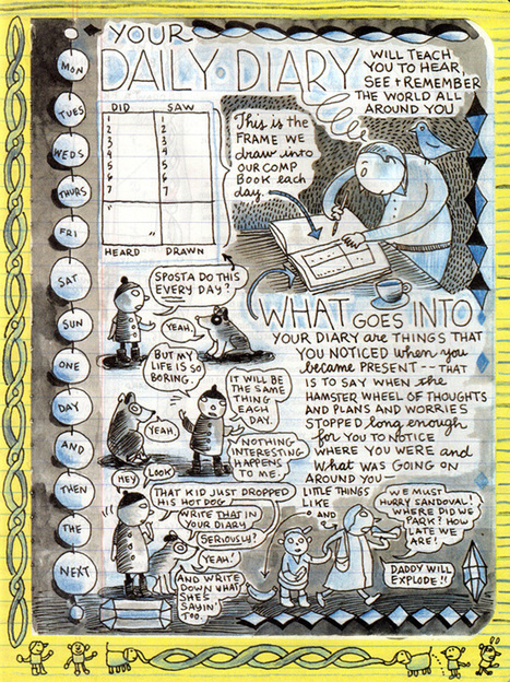 Lynda Barry's Syllabus: An Illustrated Field Guide to Keeping a Visual Diary and Cultivating the Capacity for Creative Observation | Green Art Cafe | Scoop.it